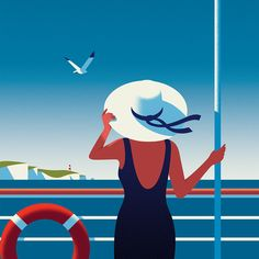 Any fans of film noir will love London-based Thomas Danthony's beautifully crafted illustrations. Art Deco Posters, Vintage Posters, Thomas Danthony, Illustration Vector, Arte Pop, Illustrators, Pop Art, Art Drawings, Design Inspiration
