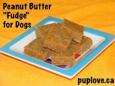 "Peanut butter ""fudge"" dog treat recipe from Cooking with Koly"