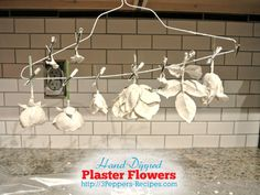 Hand-Dipped Plaster Flowers - The Basics These look so interesting and fun - I am going to have to try them....