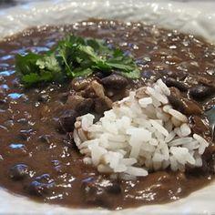 BEST EVER Black Bean Soup with Rice Recipe - ZipList
