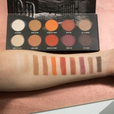 Zoeva matte eyeshadow Palette swatches