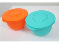 NY! Tupperware 2st skålar, Orange och turkos med lock! Simplet säljer din tupperware åt dig på nätet!