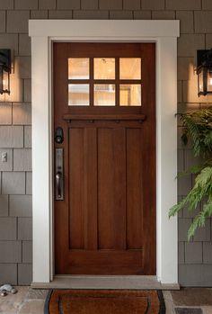 70 Best Modern Farmhouse Front Door Entrance Design Ideas images ideas from Best Door Photos Collection Front Door Design, Entrance Design, Front Door Colors, Entrance Decor, Craftsman Front Doors, Exterior Front Doors, Farmhouse Front Doors, Exterior Trim, Craftsman Door Exterior