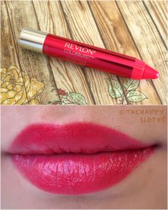 "Revlon ColorBurst Lacquer Balm in ""Vivacious"" swatches review"