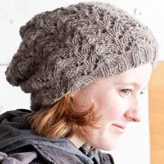 Free pattern Cascade Yarns Fishtail Lace Slouch Hat
