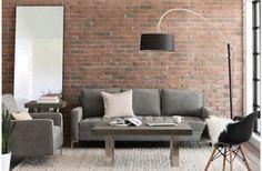 Structube Miami Modern Grey Sofa