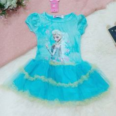 large stock retail wholesales online shopping Frozen Dresses Elsa and Anna princess dresses is coming