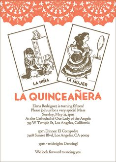 Loteria Quinceañera Invitations: Set of 100 by drenculture on Etsy