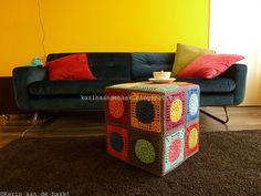 492. Gehaakte poef - Crochet pouf   Flickr - Photo Sharing!