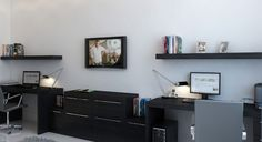 4 tips on decoring with black floating wall shelves