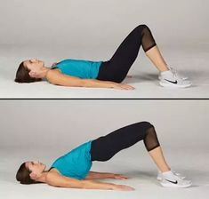 There's nothing more glorious than well-toned butt. The simple glute bridge exercise can help boost your lower body strength for sports and life. Here's how to do a glute bridge workout for a sexy butt. Bridge Workout, Glute Bridge, Leg Workout At Home, Gym Workout Tips, Straight Leg Deadlift, Tighten Stomach, Posture Exercises, Gluteus Medius, Physical Fitness