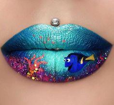 Image de lips, dory, and blue