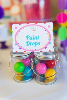 Rainbow Art Party Rainbow-Gumballs