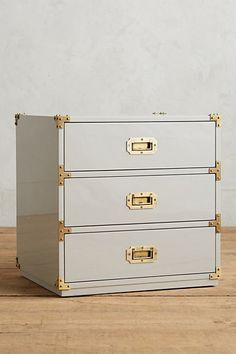 they have this guy in navy, just like mine!! Lacquered Wellington Three-Drawer Dresser #anthropologie