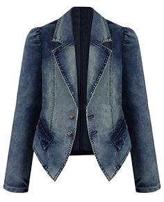 860fe88d328a2b Honey GD Women s Casual Plus Size Long Sleeve Denim Jacket Outwear Dark Blue  4XL at Amazon Women s Coats Shop