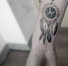 Galaxy dreamcatcher by Tattoo With Me