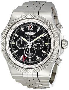 Men watches : Breitling Men's A4736212/B919SS Bentley GMT Chronograph Watch