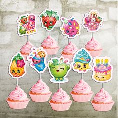 Shopkins Cupcake Toppers 25 inch Printable by OctopusDigitalStore