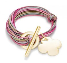 leather bracelet with special toggle clasp. Craft ideas from LC.Pandahall.com