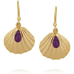 Rosantica Riva gold-tone amethyst earrings ($52) ❤ liked on Polyvore featuring jewelry, earrings, accessories, amethyst jewellery, gold tone jewelry, goldtone jewelry, amethyst earrings and amethyst jewelry