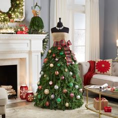 best=How to Make a Christmas Tree Dress 3 Ways Attractive Dress Mannequin Christmas Tree, Christmas Tree Costume, How To Make Christmas Tree, Traditional Christmas Tree, Santa Christmas, Christmas Signs, Christmas Photos, Christmas Time, Christmas Sweaters