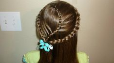 Triplet French Braided Hair-  Gorgeous artistic triple French braids making a beautiful pattern with back hair... http://slodive.com/inspiration/french-braid-hairstyles/#