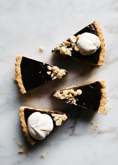 Chocolate-Caramel Macadamia Nut Tart — Fix Feast Flair