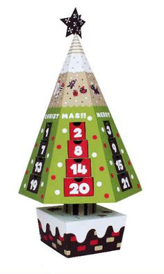 CASITA DE PAPEL: Dollhousepaper Christmas tree calendar
