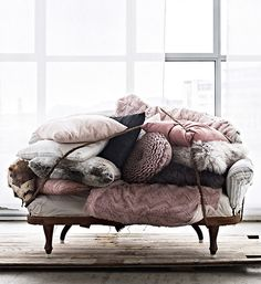Enough cushions?  From http://www.sfgirlbybay.com/