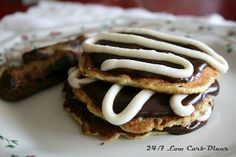 24/7 Low Carb Diner: Cinn-a-stacks. A copycat, low carb and sugarfree version of the IHOP favorite.