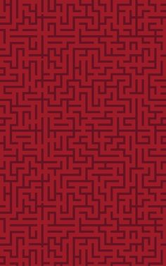 Show off your creative interior style with the bespoke red labyrinth wallpaper, a geometric Art Deco inspired design. Geometric Wallpaper Murals, Art Deco Wallpaper, Luxury Wallpaper, Red Wallpaper, Blue Wallpapers, Geometric Art, Pattern Wallpaper, Estilo Art Deco, Labyrinth