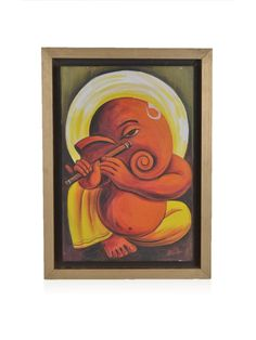 Artitude      Ganesha -Hand Painting with Flute