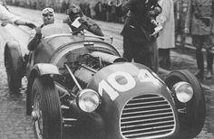 Tazio Nuvolari  Andrea Scarpinelli su Ferrari 166sc Mille Miglia 1948