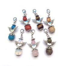 Fashion Jewerly Stone Pendant Angel Pendant Bag Pendant Jewelry Accessory Mixed Colors type Zinc alloy //FREE Shipping Worldwide //