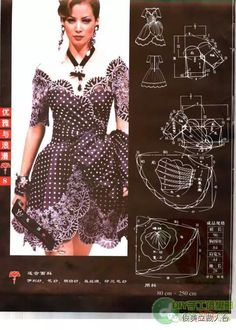Dress pattern from old magazine