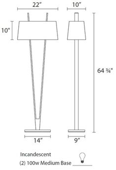 'V-lamp Floor Lamp by Sonneman. 'V-lamp Floor Lamp by Sonneman. Edison Lighting, Shop Lighting, Lighting Design, Luminaria Diy, Wooden Lamp, Brass Lamp, Modern Floor Lamps, Bedroom Lamps, Flooring