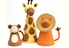 Inspiring Clay Pot Crafts The Craft Mom: Kids CraftsThe Craft Mom: Kids Crafts Clay Pot Projects, Clay Pot Crafts, Diy Clay, Craft Projects, Craft Ideas, Shell Crafts, Kids Crafts, Crafts To Make, Arts And Crafts