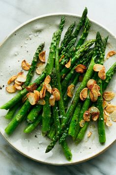 Garlic Recipes, Veggie Recipes, Vegetarian Recipes, Clean Recipes, Cooking Recipes, Healthy Recipes, Nytimes Recipes, Pan Seared Asparagus, Yummy Veggie
