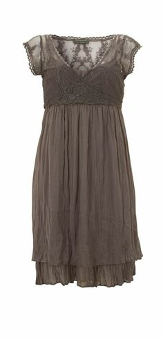 Mocha Lace Wrap Dress (looks grey to me, so let's just pretend it is) Dress Skirt, Lace Dress, Wrap Dress, Dress Up, Sheer Dress, Pretty Outfits, Pretty Dresses, Beautiful Outfits, Modelos Plus Size
