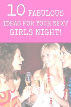 Some of the best nights we have are with our girlfriends so naturally we absolutely love these 10 Ideas for a Girl's Night Out, or In!