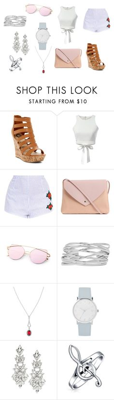 """""""#41"""" by biiamlimaa on Polyvore featuring G by Guess, WithChic, M&Co, Avon, A.X.N.Y., Design Lab and Bling Jewelry"""