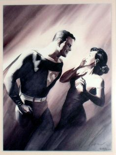 Alex Ross's version of Superman & Lois Lane 1st Meeting originally illustrated in Action Comics 1, 1938