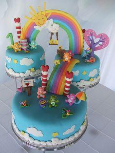 Love this cake! Care Bear Cake