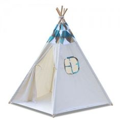 5 Poles Childs Teepee Kids Play Tent Canvas Indoor Outdoor Tipi Playhouse