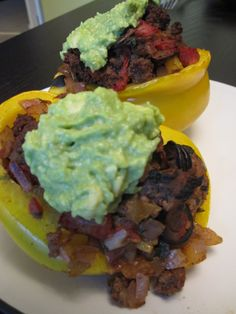 Mexican Stuffed Bell Peppers   #justeatrealfood #paleogirlskitchen