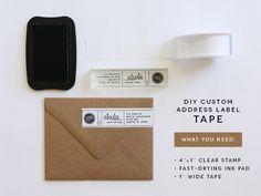 DIY custom address label tape - Akula Kreative