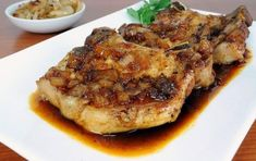 Pork Chops with a Maple Sauce. My husband said it was the best. Dutch Oven Pork Chops, Cooking Pork Chops, Glazed Pork Chops, Oven Roast, Dutch Oven Recipes, Pork Chop Recipes, Frugal, Simply Recipes, Pork Dishes