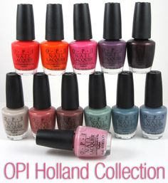 Love so many of the colors in OPI's new Holland collection! Especially the ones with the unexpected gold shimmer in them.