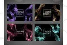 Wave smoke background. Vector illustration Graphics Waved smoke background. Vector illustration. Template banner design by Marinstri