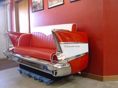 1957 Chevy Couch. Interested? Contact us at http://www.benniesfifties.com